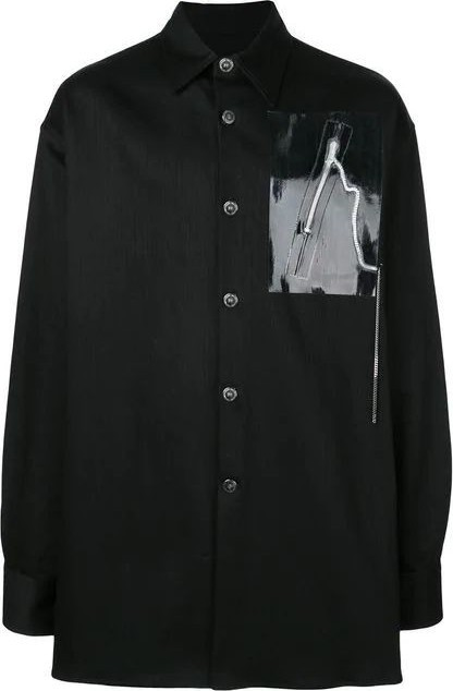 Raf Simons OVER SIZED SHIRT WITH ZIPPER