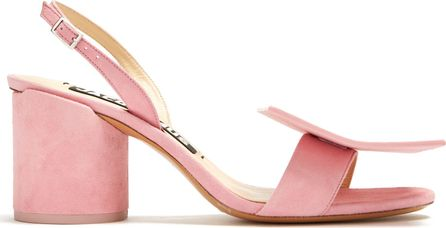 Jacquemus Sculptured-heel suede sandals