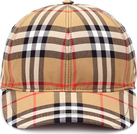 Burberry London England Vintage Check cotton baseball cap