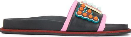 Fendi leather poolside sandals