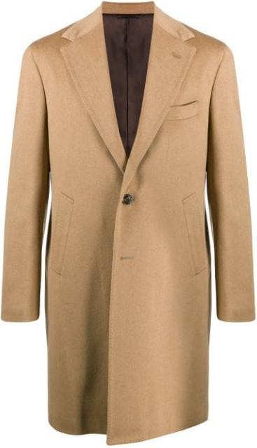 Barba Single-breasted wool coat