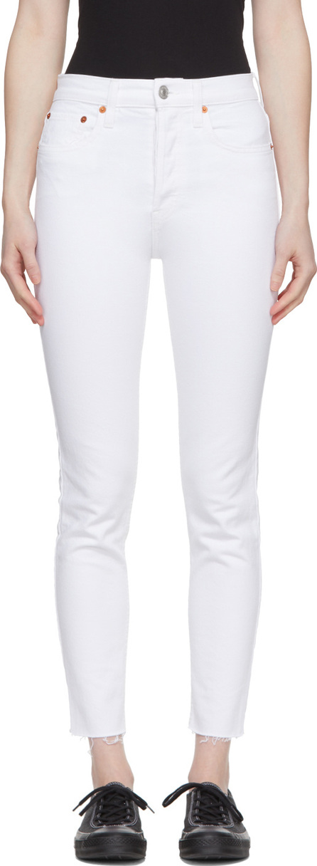 RE/DONE White Originals Cropped Jeans