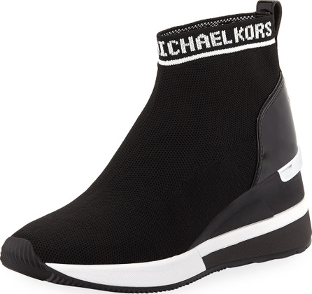 MICHAEL MICHAEL KORS Skyler Stretch-Knit Sneaker Booties