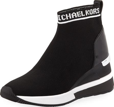 MICHAEL MICHAEL KORS Skyler Stretch-Knit Sneaker Booties