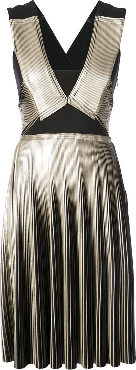 Yigal Azrouel Foil pleated dress