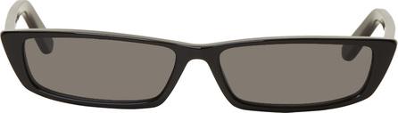 Balenciaga Black Thin Rectangular Sunglasses