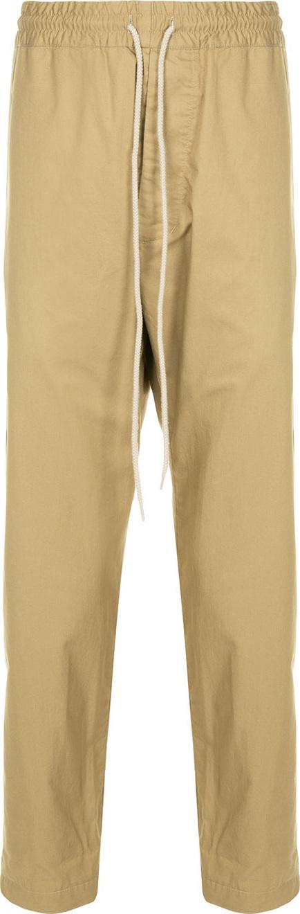 Bassike Drawstring straight-leg trousers
