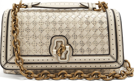 Bottega Veneta Olimpia Knot intrecciato-leather cross-body bag