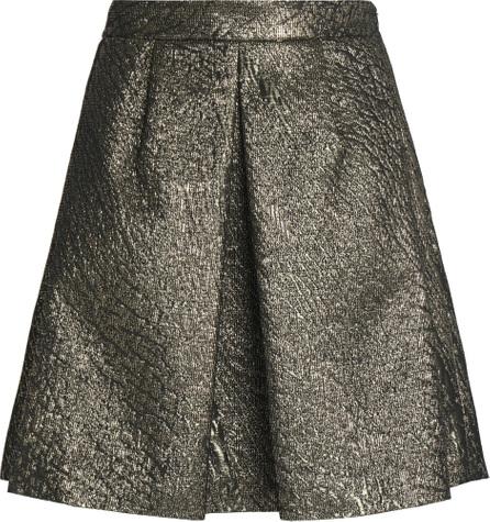 Brunello Cucinelli Pleated metallic cloqué mini skirt