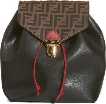 Fendi Cruise Bicolor Calfskin Leather Backpack