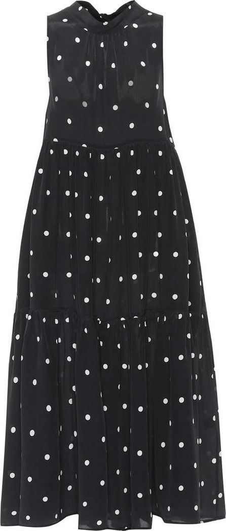 Asceno Polka-dotted silk dress