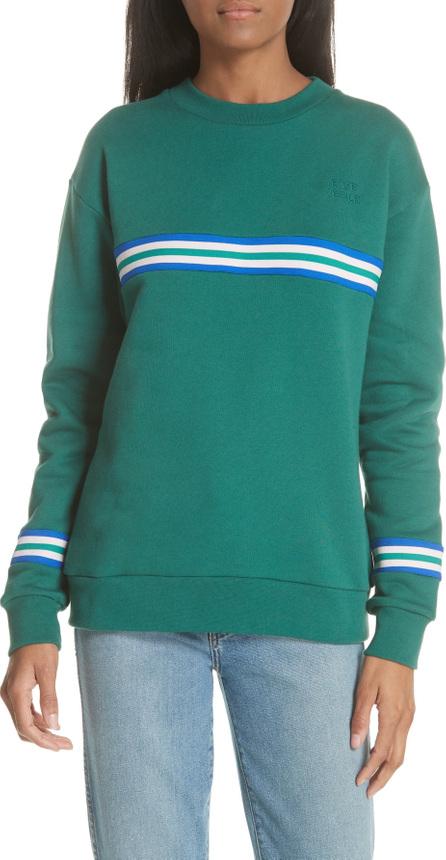 Etre Cecile être cécile Rib Stripe Boyfriend Sweatshirt