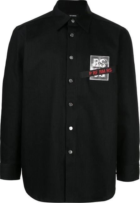 Raf Simons Logo chest patch denim shirt