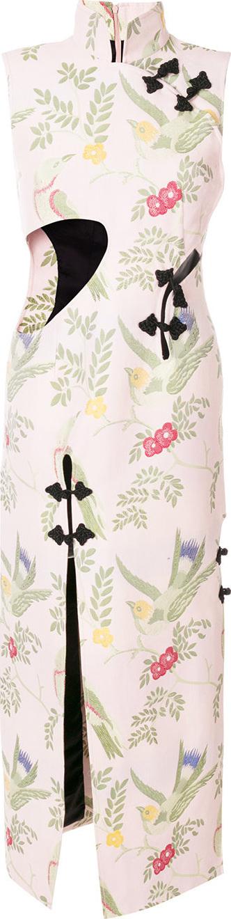 Marques'Almeida Oriental embroidered dress