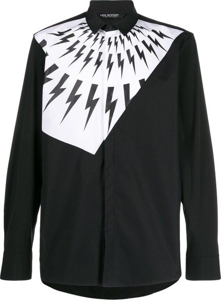 Neil Barrett Lightning bolt print shirt