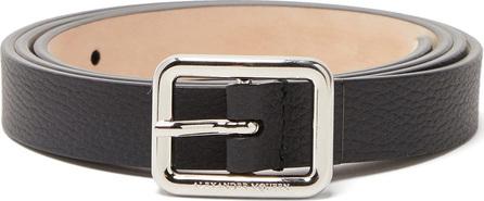 Alexander McQueen Logo-engraved slim grained-leather belt