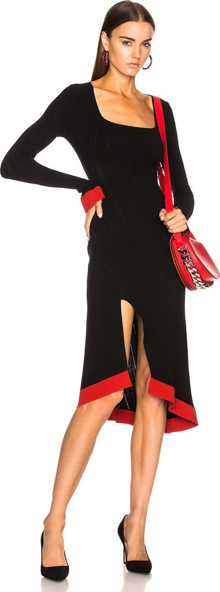 3b01b59060 Esteban Cortazar Long Sleeve Corset Knit Dress
