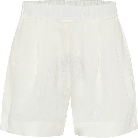 Asceno Zurich wide-leg linen shorts