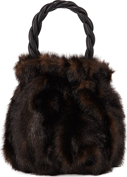 Staud Grace Faux Mink Top-Handle Bag
