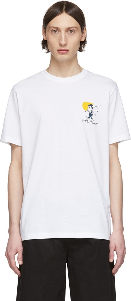 Ps By Paul Smith White 'Gone Fishing' T-Shirt