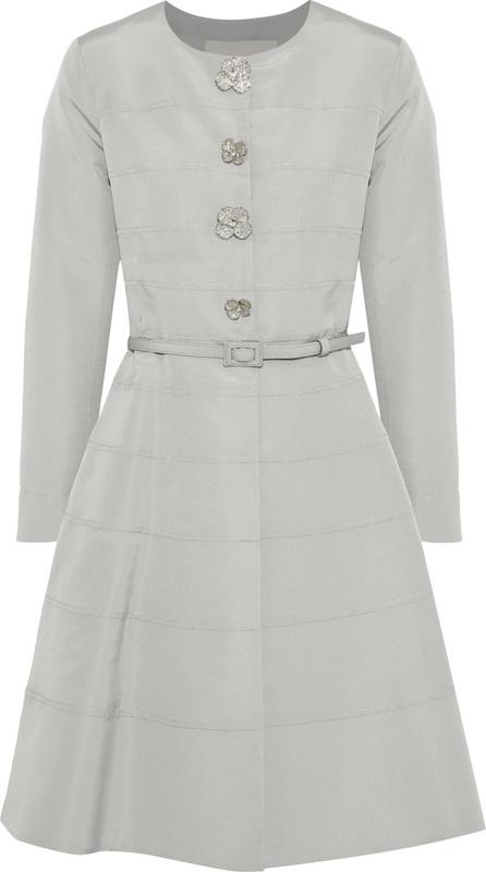 Carolina Herrera Flared embellished silk-faille dress