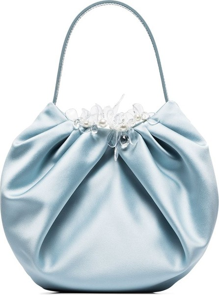 Simone Rocha Embellished pleated silk clutch bag