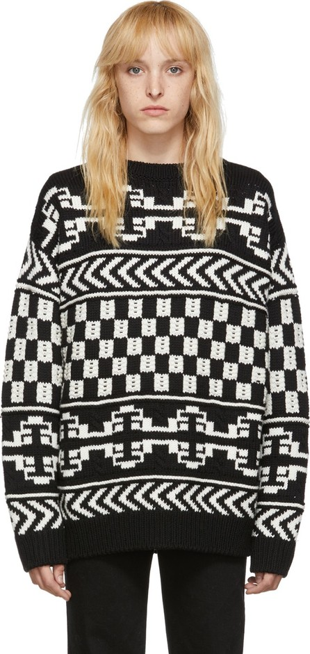 Alanui Black & White Wool Jacquard Sweater
