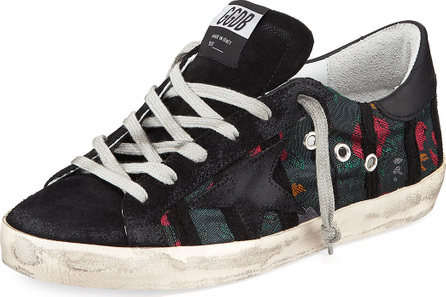 Golden Goose Deluxe Brand Superstar Suede/Jacquard Low-Top Sneakers