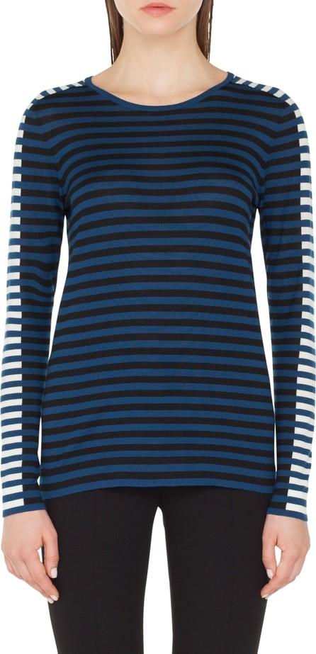 Akris Punto Multicolor Stripe Knit Pullover