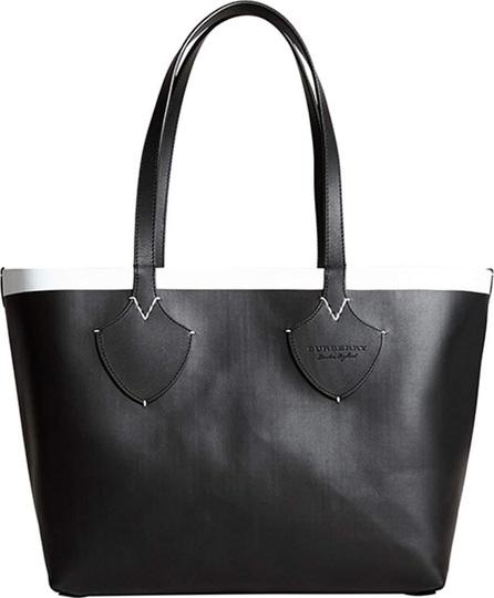 Burberry London England Medium Reversible Bonded Check/Leather Shoulder Tote Bag