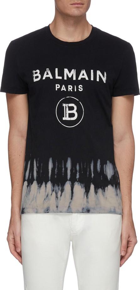 Balmain Half tie-dye logo print T-shirt