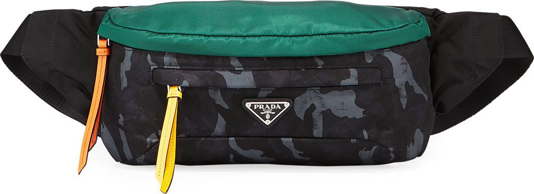 6cc141281991 Prada Men s Tessuto Stampato Belt Bag Fanny Pack - Mkt