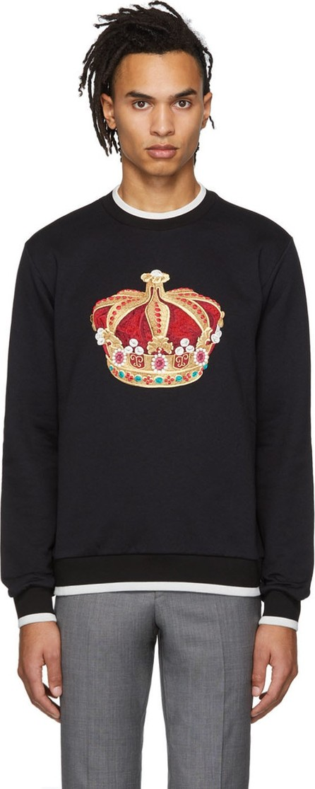 Dolce & Gabbana Black Big Crown Sweatshirt