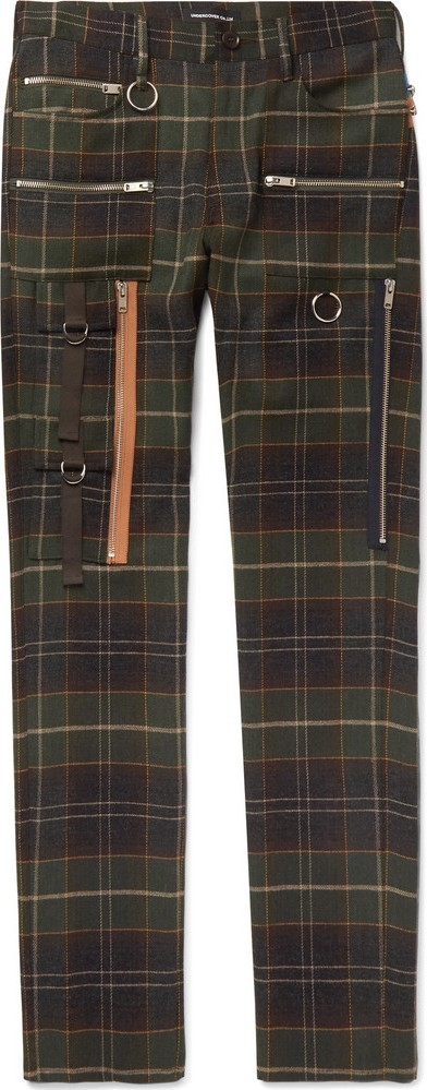 Undercover Skinny-Fit Checked Wool Trousers