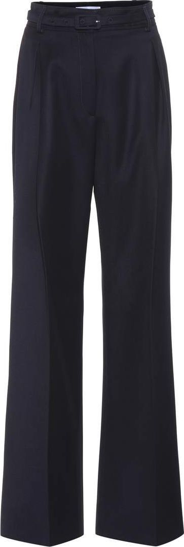 Gabriela Hearst Dora high-waisted wool trousers