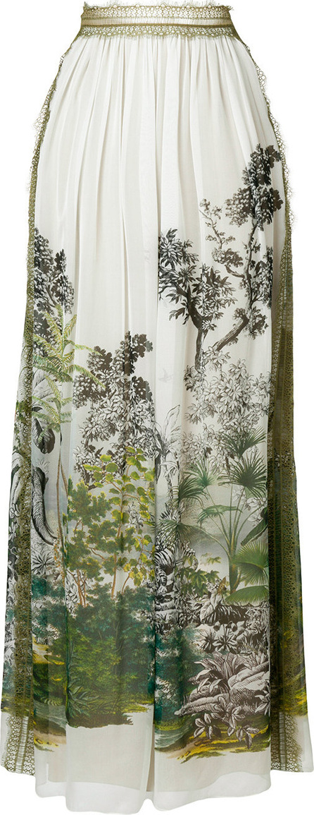 Alberta Ferretti Long printed skirt
