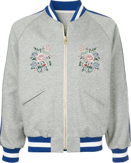 A(Lefrude)E Floral embroidered bomber jacket