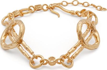 Attico Circles gold-tone anklet
