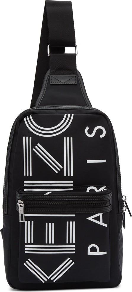 KENZO Black Crew Logo Crossbody Backpack