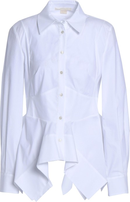 Antonio Berardi Stretch-cotton poplin peplum shirt