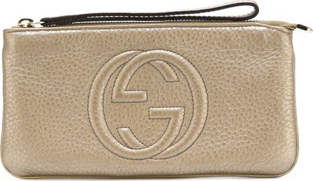 Gucci GG embossed pouch