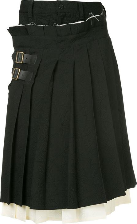 FACETASM Facetasm x Woolmark kilt wrap shorts