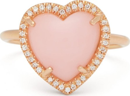 Irene Neuwirth Love diamond, opal and 18kt rose-gold ring