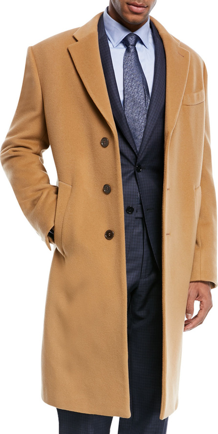 Armani Collezioni Wool & Cashmere Single-Breasted Topcoat