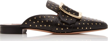 Bally Janesse Stud-Embellished Leather Mules