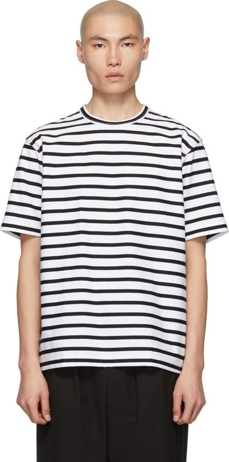 Comme des Garçons Homme Black & White Intarsia T-Shirt