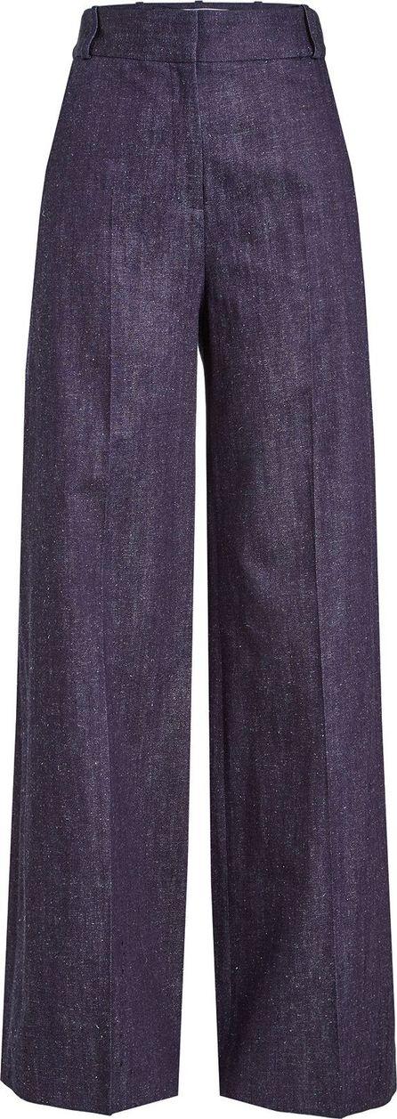 VICTORIA, VICTORIA BECKHAM High Waisted Wide Leg Cotton Pants
