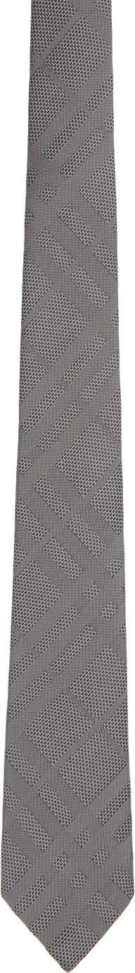 Burberry London England Grey Check Manston Tie