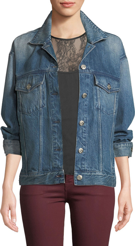 3X1 Bijou Lace-Up Chain Denim Jacket