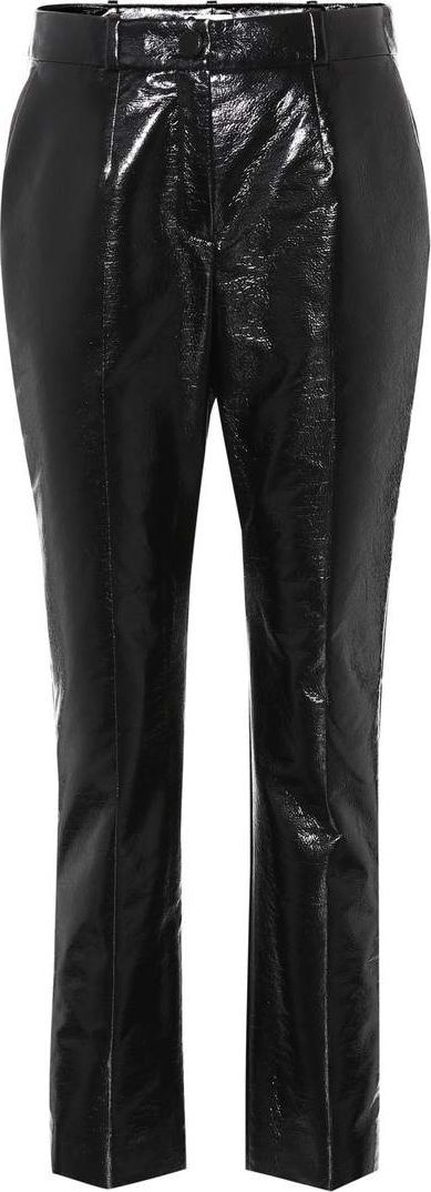 Lanvin Coated cropped trousers